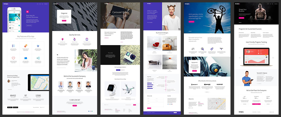 multiplex landing pages2